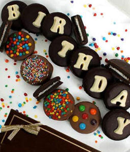 Birthday Chocoalte Covered Cookies Oreos